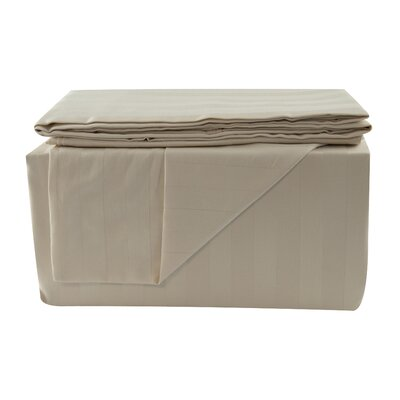 600 Thread Count Sheet Set Color: Khaki, Size: Queen