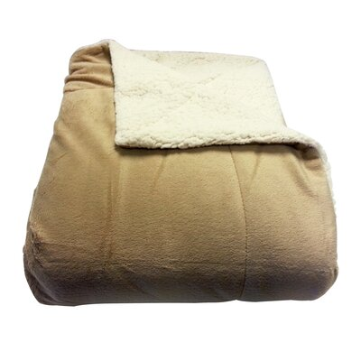 Micromink / Sherpa Throw Color: Tan