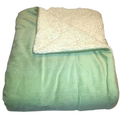 Micromink / Sherpa Throw Color: Sage
