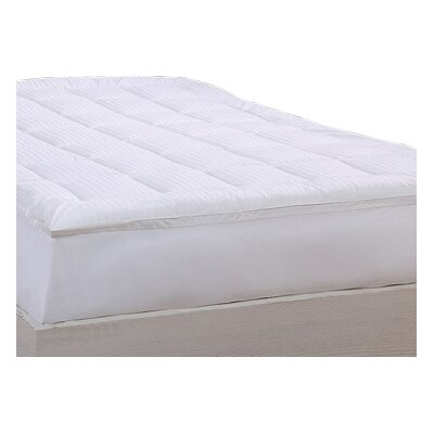 Damask Stripe Pillow Top 1 Polyester Mattress Pad Size: Twin