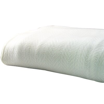 Luxury Woven Blanket Size: Full / Queen, Color: Ivory