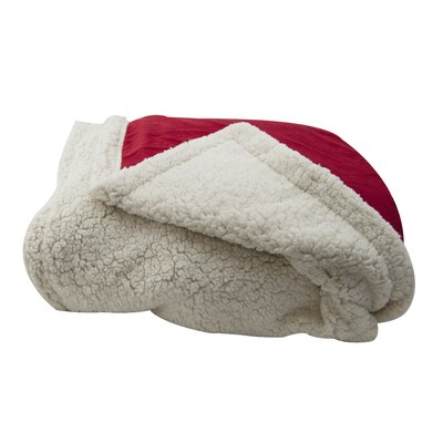 Sherpa Throw Pillow Color: Red