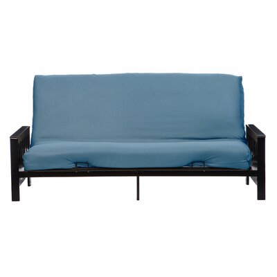 Box Cushion Futon Slipcover Size: Queen, Upholstery: Blue