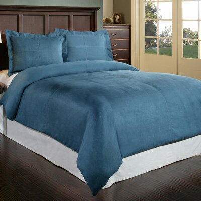 Duvet Cover Set Color: Blue, Size: King
