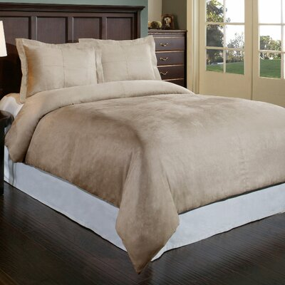 Duvet Cover Set Color: Taupe, Size: King