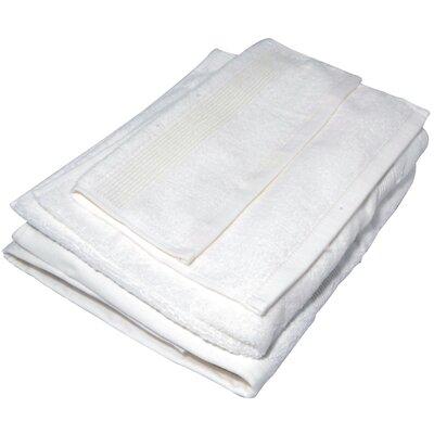 Soft Touch Cotton 3 Piece Towel Set Color: White
