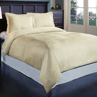 Duvet Cover Set Color: Ivory, Size: King
