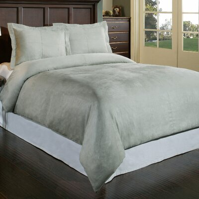 Duvet Cover Set Color: Gray, Size: Full/Queen
