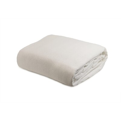 Luxury Cotton Blanket Size: Full / Queen, Color: Ivory