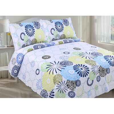 Richel 3 Piece Quilt Set Size: Full/Queen