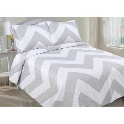 Quilt Set Size: Full/Queen, Color: Gray