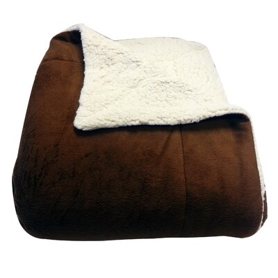 Micromink / Sherpa Throw Color: Chocolate