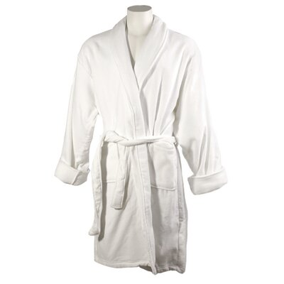 Womens Cotton Terrycloth Bath Robe Color: White