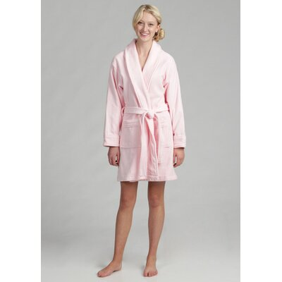 Womens Cotton Terrycloth Bath Robe Color: Pink