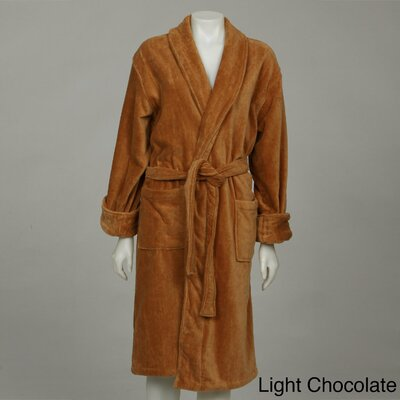 Womens Cotton Terrycloth Bath Robe Color: Chocolate