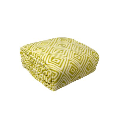 Luxury Printed Square Plush Throw Blanket Color: Sage, Size: King