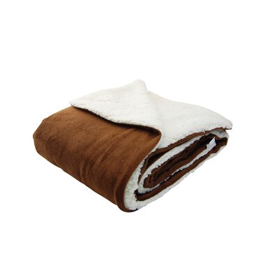 Sherpa Throw Pillow Color: Chocolate
