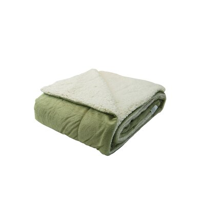 Sherpa Throw Pillow Color: Sage