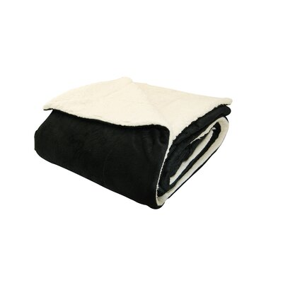 Sherpa Throw Pillow Color: Black