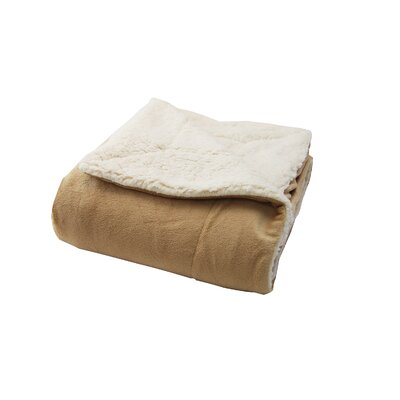 Sherpa Throw Pillow Color: Tan