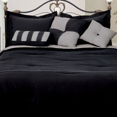 Comforter Set Size: Twin, Color: Black/Gray