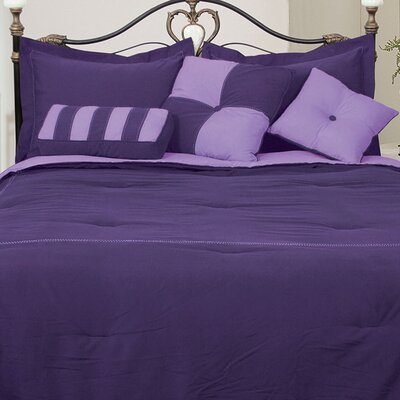 Comforter Set Color: Purple/Lavender, Size: Queen