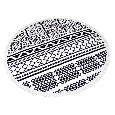 Geo Round Beach Towel