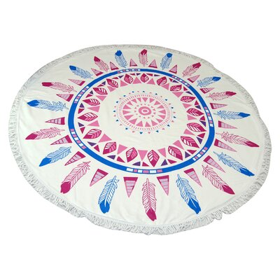 West Side Feather Round Beach Towel