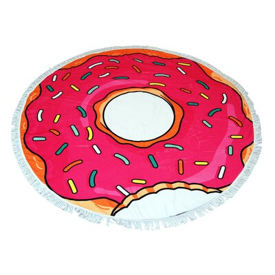 Donut Round Beach Towel