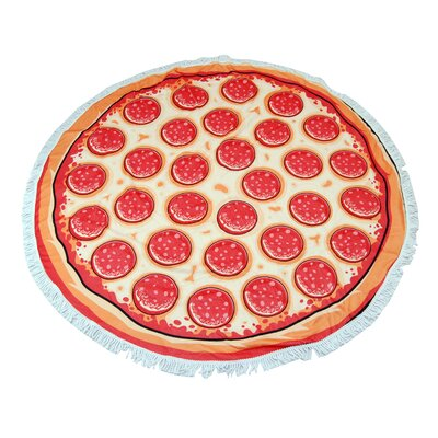 Cruice Pizza Round Beach Towel