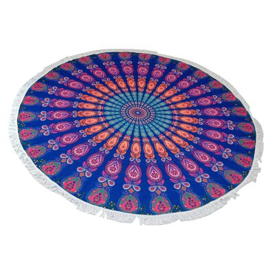 Boelter Peacock Round Beach Towel