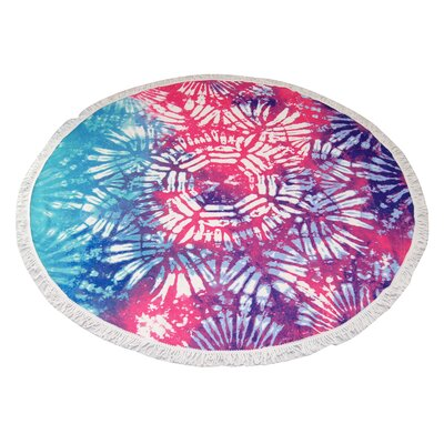 Hackensack Ice Flower Round Beach Towel