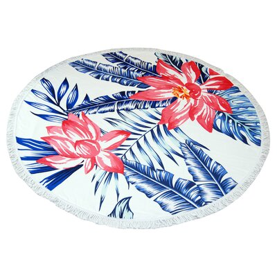 Glendale Big Flower Round Beach Towel