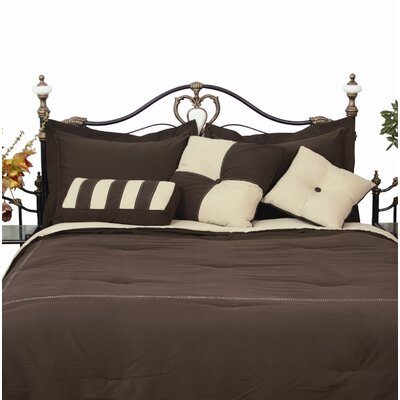 3 Piece Throw Pillow Set Color: Chocolate / Khaki