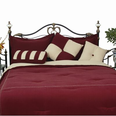 3 Piece Throw Pillow Set Color: Burgundy / Khaki