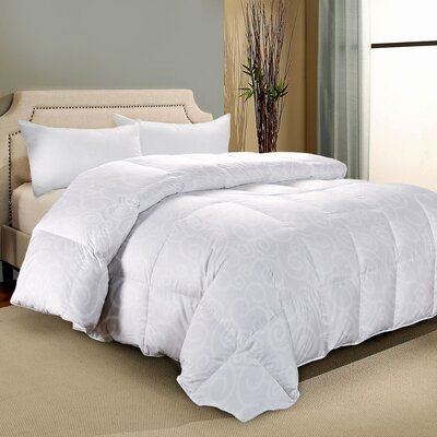 300 Thread Count Cotton Damask Down Alternative Comforter Bed Size: Queen