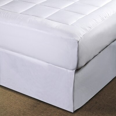 Micro Plush Pillowtop Polyester Mattress Pad Size: Twin Extra Long