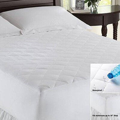 Waterproof Polyester Mattress Pad Size: California King