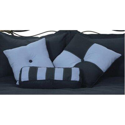 3 Piece Throw Pillow Set Color: Denim / Smoke Blue