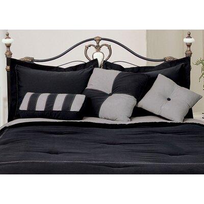 3 Piece Throw Pillow Set Color: Black / Gray