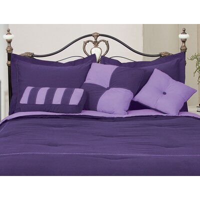 3 Piece Throw Pillow Set Color: Purple / Lavender