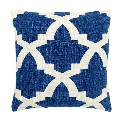 Island Dreams Silk Throw Pillow Color: Mykonos