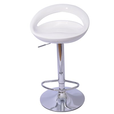 Pagosa Adjustable Height Swivel Bar Stool Upholstery: White