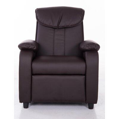 PU Leather Comfortable Kids Recliner Color: Brown KR2002BRN