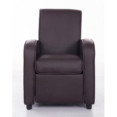 PU Leather Comfortable Kids Recliner Color: Brown KR2021BRN