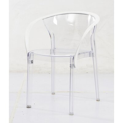 Spurgeon Transparent White Trim Dining Chair