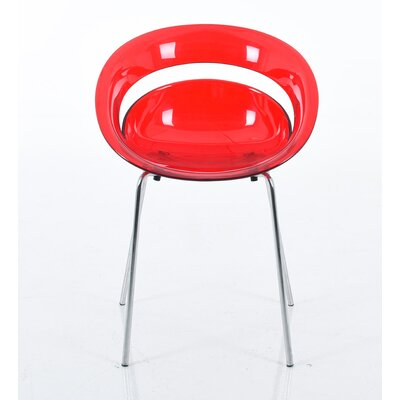 Stacy Round Dining Chair with Chrome Legs