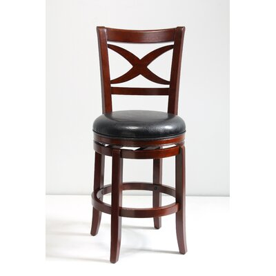 24 inch Swivel Bar Stool Finish: Brown Cherry