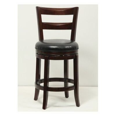 24 Swivel Bar Stool Finish: Cappuccino