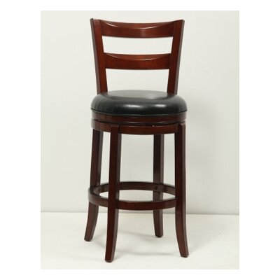 29 Swivel Bar Stool Finish: Brown Cherry